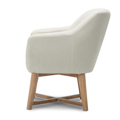 Artiss Fabric Tub Lounge Armchair - Beige | 360HomeWare