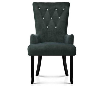 Artiss French Provincial Dining Chair - Grey | 360HomeWare