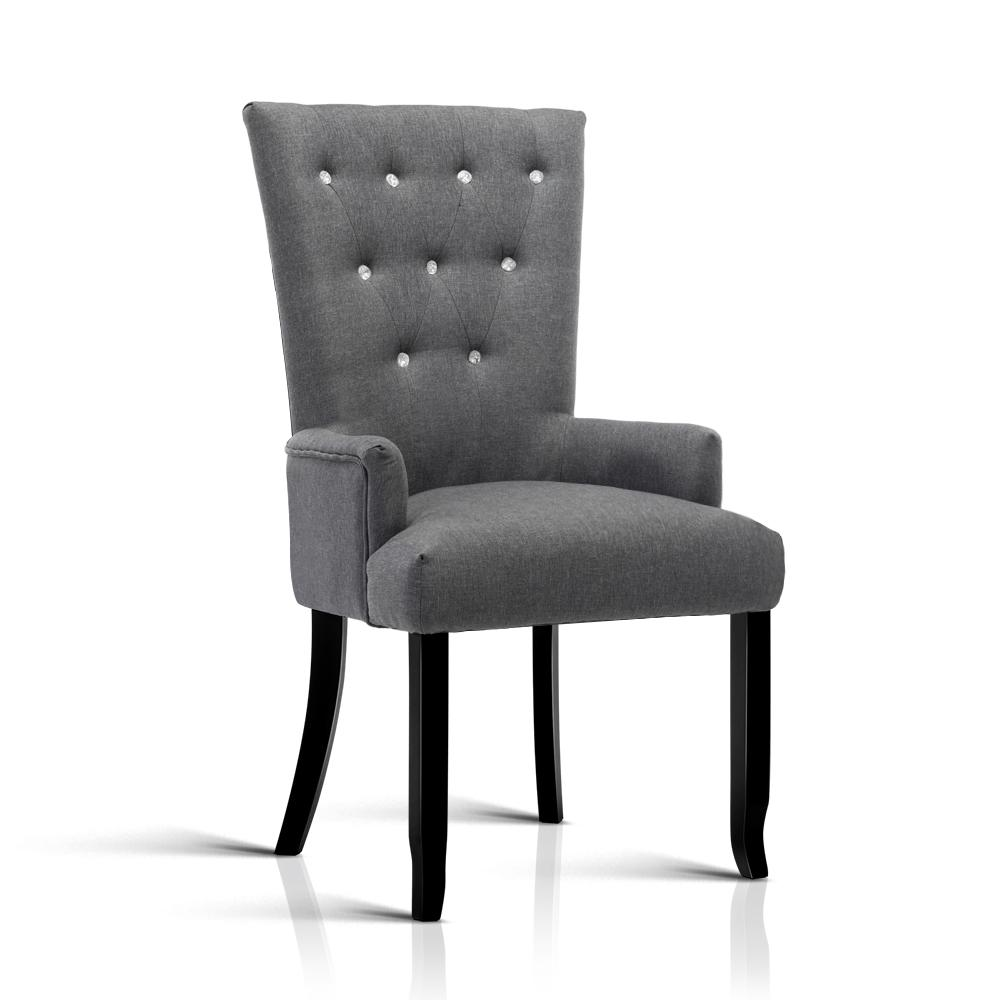Artiss Cayes French Provincial Dining Chair - Grey | 360HomeWare