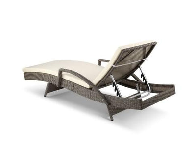 Outdoor Sun Lounge Chair with Cushion- Grey | 360HomeWare
