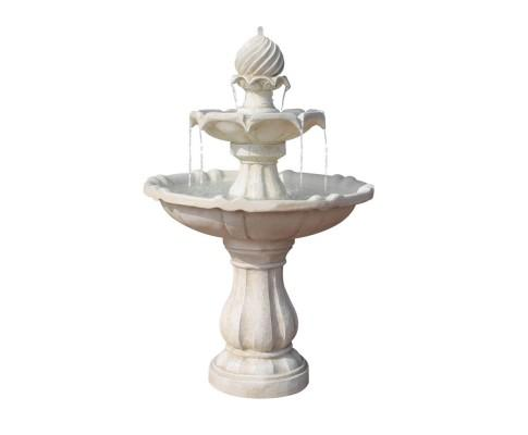 3 Tier Solar Powered Water Fountain - Ivory | 360HomeWare