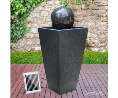 Solar Powered Water Fountain - Black | 360HomeWare