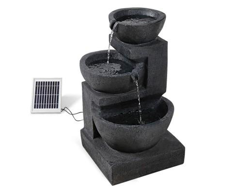 Solar Fountain with LED Lights | 360HomeWare