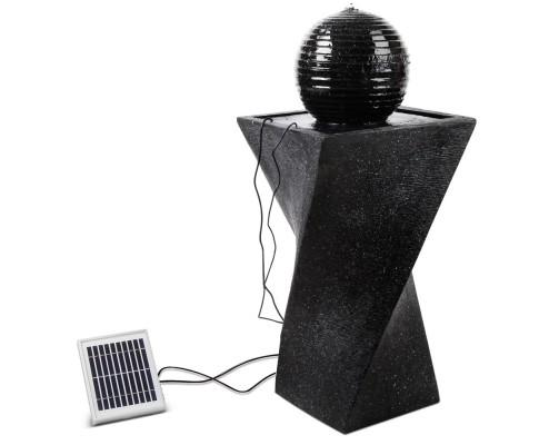 Solar Powered Water Fountain Twist Design with Lights | 360HomeWare