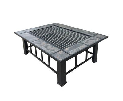 Outdoor Fire Pit BBQ Table Grill Fireplace | 360HomeWare