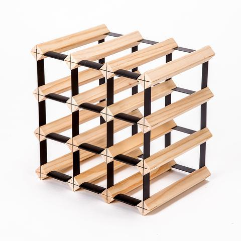 12 Bottle Timber Wine Rack | 360HomeWare