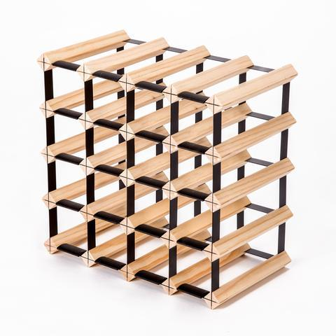 20 BOTTLE PINE WOOD TIMBER WINE RACK | 360HomeWare