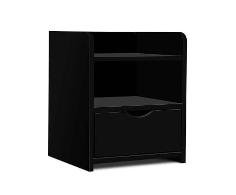 Artiss Bedside Table Drawer - Black | 360HomeWare