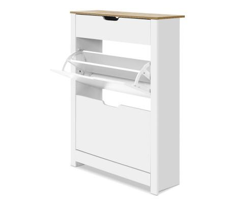 16 Pairs Artiss Shoe Cabinet- White | 360HomeWare