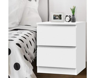 Artiss Bedside Table Cabinet Lamp Side Tables Drawers Nightstand Unit White | 360HomeWare
