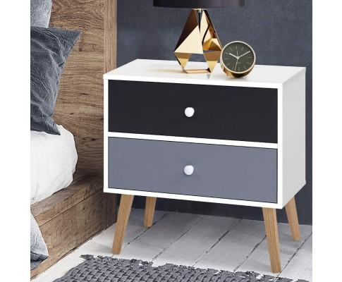Two-Tone Bedside Tables Drawers | 360HomeWare
