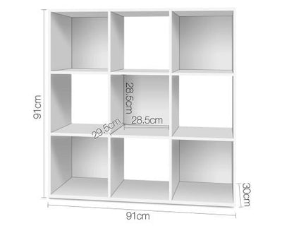 9 Cube Display Storage Shelf White | 360HomeWare