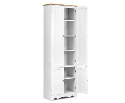 6 Tier Wooden Kitchen Pantry Cabinet - White | 360HomeWare