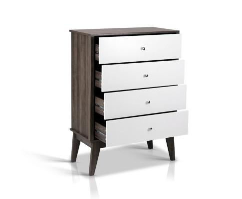 4 Chest of Drawers Storage Cabinet - White | 360HomeWare