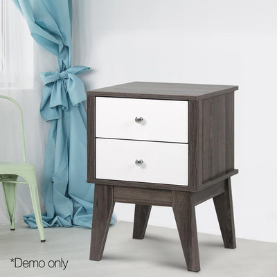 Malmo Bedside Table with Drawers | 360HomeWare