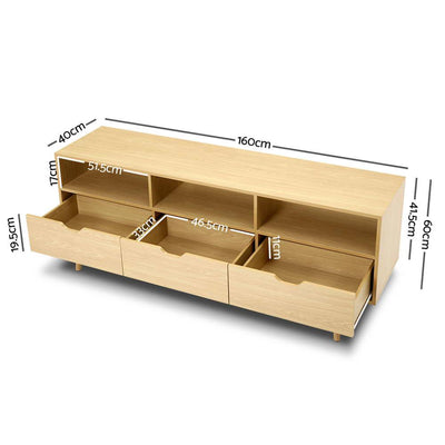 Scandinavian Entertainment Unit - Natural | 360HomeWare