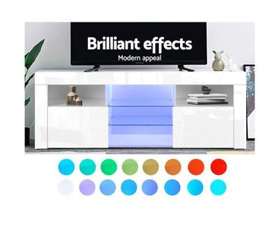 RGB LED TV Stand Cabinet Entertainment Unit - 145cm | 360HomeWare