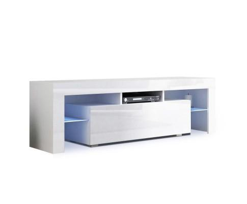 RGB LED Tempered TV Stand Cabinet Entertainment Unit - 130cm | 360HomeWare
