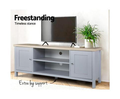 Artiss TV Cabinet Entertainment Unit Stand 130cm - Grey | 360HomeWare