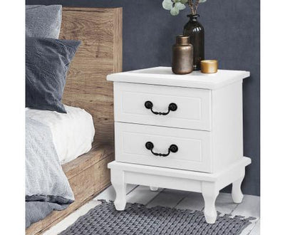 Artiss Bedside Table Storage - White | 360HomeWare