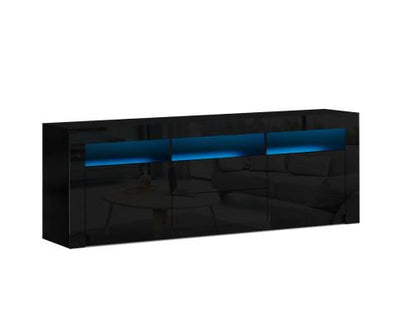 Artiss TV Cabinet Entertainment Unit Stand RGB LED - Black | 360HomeWare
