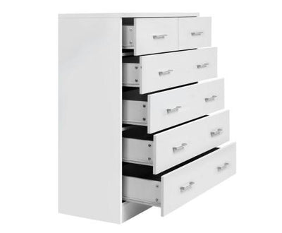 Tallboy 6 Drawers Storage Cabinet (White) | 360HomeWare