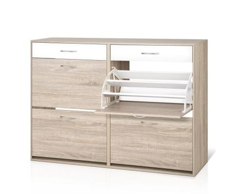 Artiss 2 Tier Shoe Cabinet - Wood | 360HomeWare