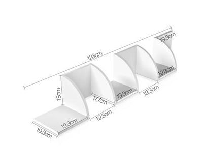 5 Tier Corner Wall Shelf - White | 360HomeWare