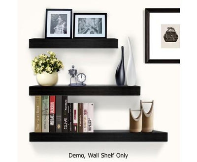 3 Piece Floating Wall Shelves - Black | 360HomeWare