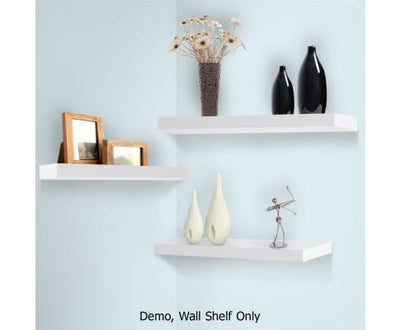 3 Piece Floating Wall Shelves - White | 360HomeWare
