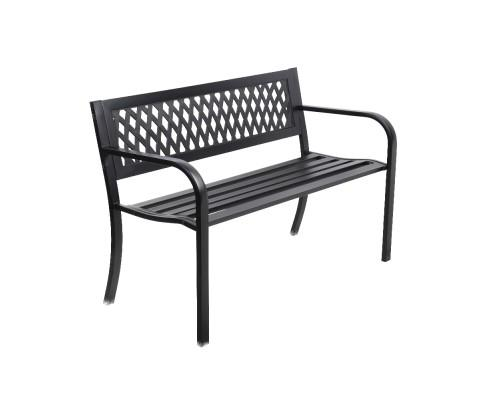 Gardeon Cast Iron Modern Garden Bench - Black | 360HomeWare