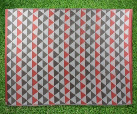 Geometric Triangle Rectangular Outdoor Weatherproof PP MAT | 360HomeWare