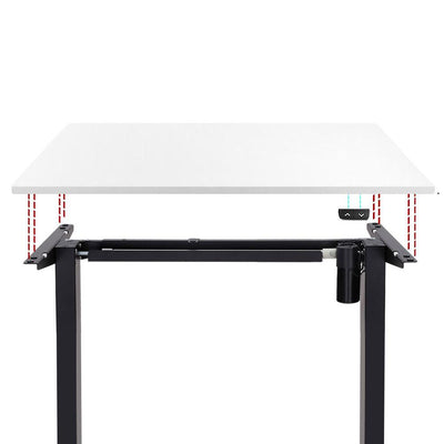 Electric Motorised Height Adjustable Standing Desk - Black Frame with 140cm White Top | 360HomeWare