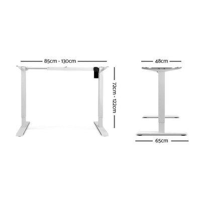 Motorised Adjustable Desk Frame White | 360HomeWare