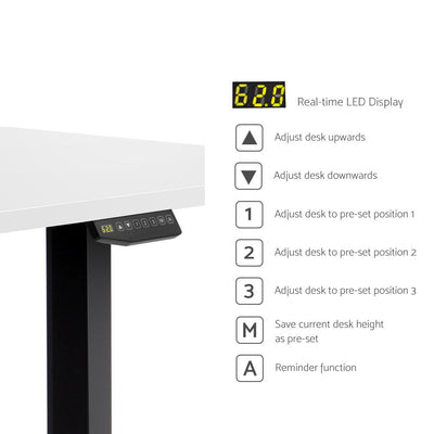 Artiss 150cm Motorised Electric Height Adjustable Standing Desk Table Dual Motor | 360HomeWare