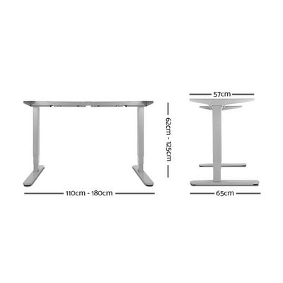 Artiss Motorised Standing Desk - Grey | 360HomeWare
