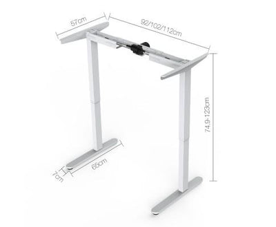 Motorised Height Adjustable Standing Desk White | 360HomeWare