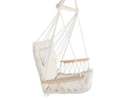 Gardeon Hammock Hanging Swing Chair - Cream | 360HomeWare