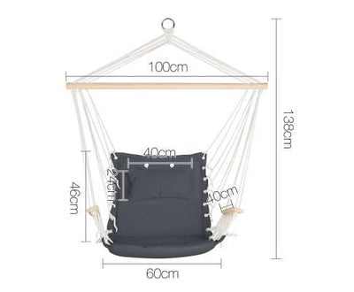 Hammock Hanging Swing Chair - Grey | 360HomeWare