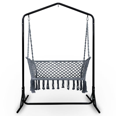 Outdoor Swing Hammock Chair with Stand Frame 2 Seater Bench Furniture | 360HomeWare