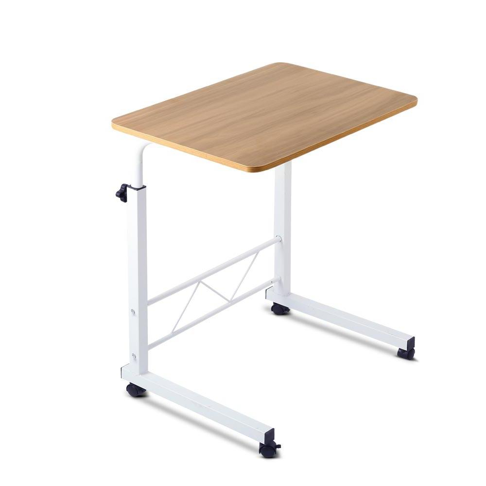 Mobile Twin Laptop Desk - Light Wood | 360HomeWare