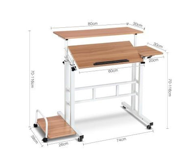 Mobile Twin Laptop Desk (Light Wood) | 360HomeWare