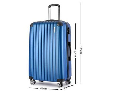 2 Piece Lightweight Hard Suit Case Luggage Blue | 360HomeWare