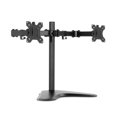 Dual HD LED Monitor Arm Stand TV Mount Holder 2 Arm Display Freestanding | 360HomeWare