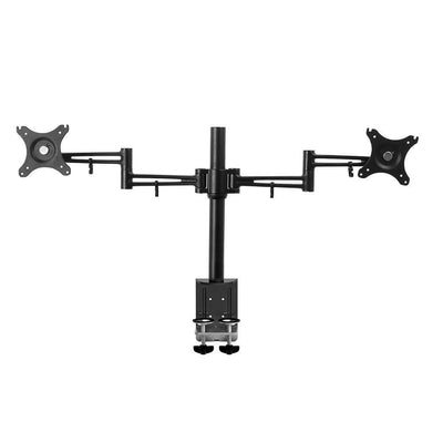 2 Arms Adjustable Monitor Screen Holder - Black | 360HomeWare