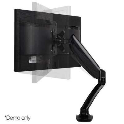 Fully Adjustable Dual Monitor Arm Stand Black | 360HomeWare