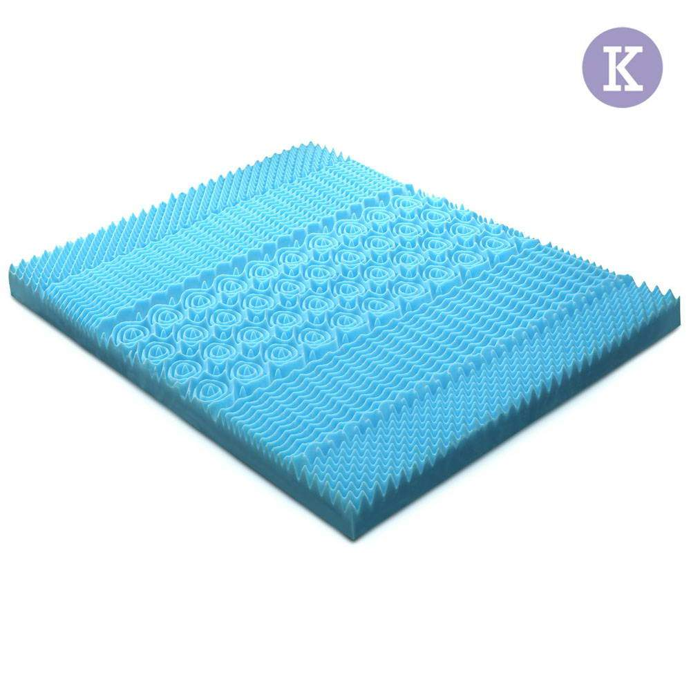 Giselle Bedding  8cm Thick Bamboo Mattress Topper Blue - King | 360HomeWare