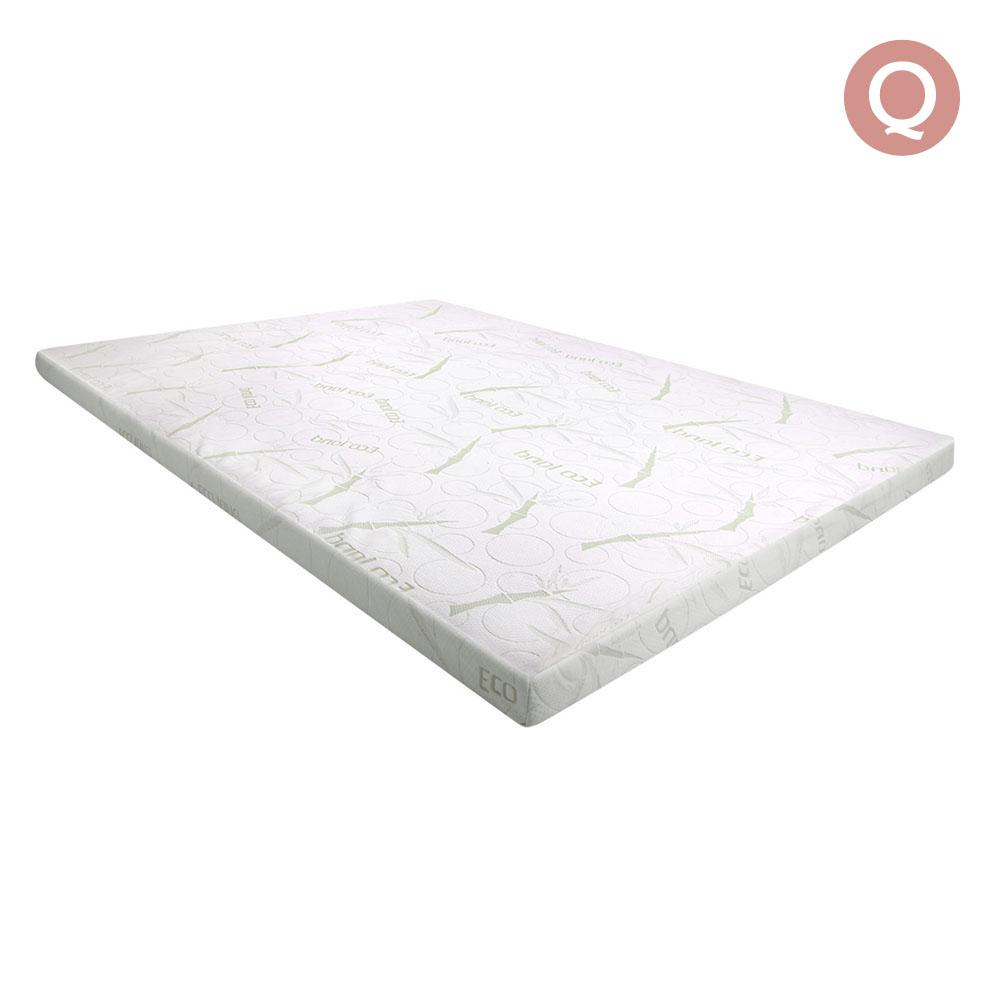 Giselle Bedding 7cm Thick Bamboo Fabric Mattress Topper White - QUEEN | 360HomeWare