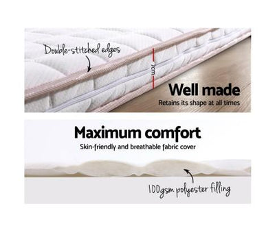 Memory Foam Mattress Topper Bed Underlay Cover Single 7cm | 360HomeWare