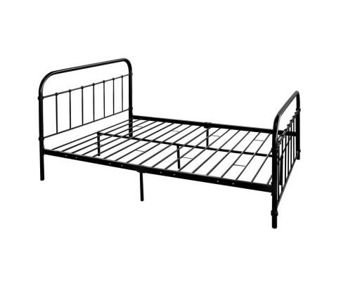 Metal Bed Frame with headboard- Black | 360HomeWare